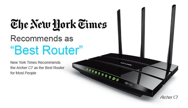 New York Times Recommends the Archer C7 as the Best Router for Most People